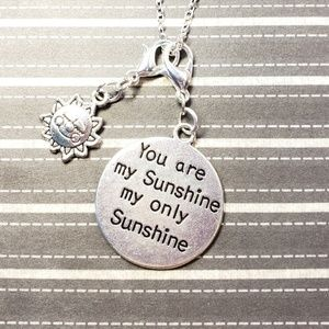 "3/$35 18"" Silver Plated Necklace w/Sun Charm"